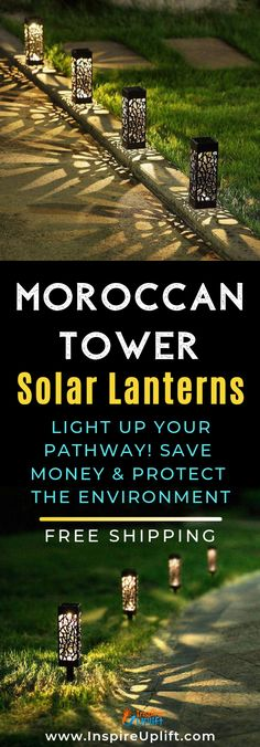 Moroccan Tower Solar Lanterns create a comfortable and inviting atmosphere to any outdoor, living space! They're easy to position on your lawn and require very low-maintenance. Solar Light Kit, Solar Light Crafts, Solar Lantern Lights, Romantic Backyard, Darkness Falls, Patio Lighting, Outdoor Living, Outdoor Spaces, Patio Dining