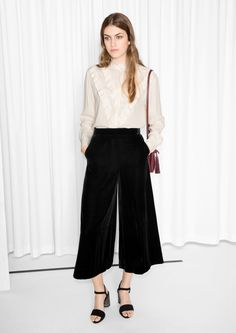 & Other Stories image 2 of Velvet Culottes in Black