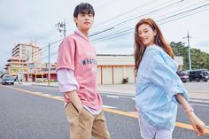 Click for full resolution. Doyeon & Cha Eunwoo for Polham 2019 SS collection