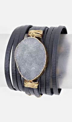 Leather Kai Bracelet in London Quartz