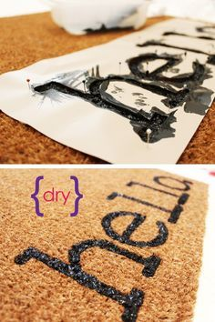 Easy Project for Spring: DIY Personalized Door Mats
