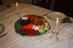 all edible cornucopia vegetable tray