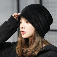 6b69257e91f Fashion Cute Solid Velvet Hats For Women Ladies Autumn Winter Warm Earmuffs  Caps Skullies
