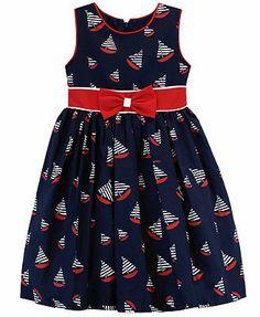 Jayne Copeland Little Girls' Sailboat-Print Dress