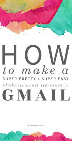 Want a signature in your email that links to #allthethings? Learn how to create a pretty interactive email signature.