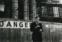 Portrait of William S. Burroughs in front of the Théâtre Odeon, Paris.  ©Brion Gysin, Oct. 1959