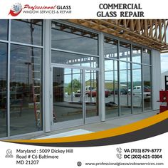 Storefront Glass, Glass Repair, Glass Partition, Store Fronts, Glass Panels, Windows, Furniture, Home Decor, Homemade Home Decor