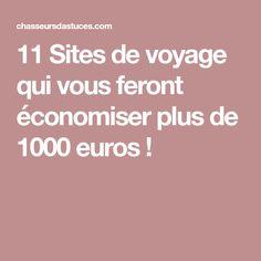 11 Sites de voyage qui vous feront économiser plus de 1000 euros !