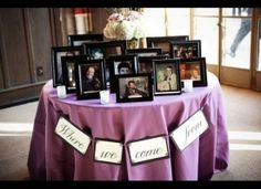 Display Family Photos - Past and Present - on a Special Table; Perfect for the 2nd and Chicago Receptions. - EJ