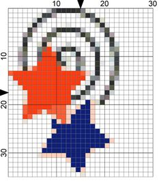4th of July Stars Free Needlepoint Chart: Day 174 of the 365 Needlepoint New Year�s Resolutions Challenge