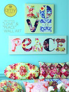 love & peace wall art