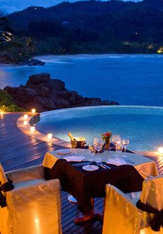 Set up a private meal for two on your villas veranda #Jetsetter Banyan Tree Seychelles