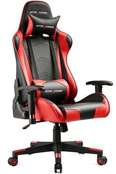 GTracing Ergonomic workplace uncomplicated chair Racing uncomplicated chair Backrest and harley seat Height realignment Computer uncomplicated  sc 1 st  Pinterest & Corsair T1 Race Gaming Chair High Back Desk u0026 Office Chair Black ...