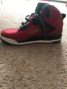 best sneakers 57731 ca3eb Nike Air Jordan Spiz ike Red Black-Grey-White Toro Bravo 317321-601 GS SZ 6  Y  fashion  clothing  shoes  accessories  kidsclothingshoesaccs  boysshoes   ad ...