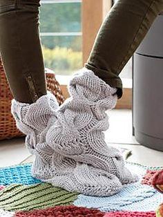 Slipper socks.  Ravelry.