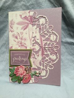 Scrapbooking Layouts, Scrapbook Cards, Anna Griffin Cards, Cricut Cartridges, Decorative Borders, Making Cards, Pretty Cards, Card Tags, Flower Cards