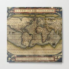 Old World Maps, Vintage World Maps, Orbis, Science Photos, A4 Poster, Posters, Library Of Congress, Canvas Prints, Art Prints