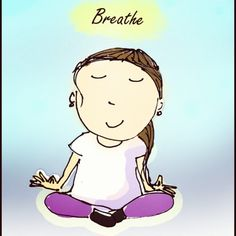 Breathe in Breathe out  #cartoons #doodles #illustrations