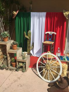 #fiesta  , fiesta party , photo backdrop , Mexican backdrop , props , hay , Mexican party , cactus , photo station , Mexican flag , chair
