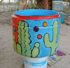 Recycled Washing Machine Drum Into Garden Art