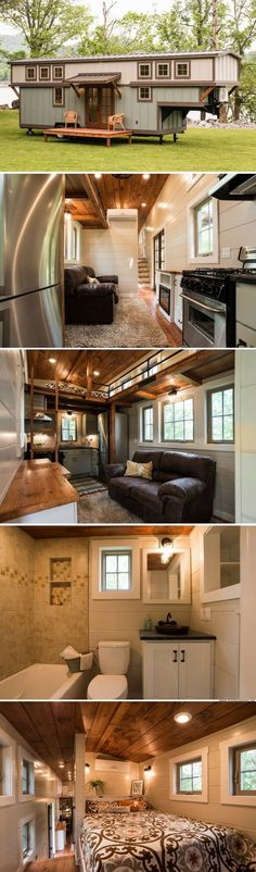 The Retreat a family-friendly tiny home with 416 sq ft of space! LuxuryBedding Tiny House On Wheel&; The Retreat a family-friendly tiny home with 416 sq ft of space! LuxuryBedding Tiny House On Wheel&; FUM frulma Tiny […] Homes Cottage Tiny House Stairs, Tiny House Living, Tiny House Plans, Tiny House On Wheels, Cozy House, Tiny House Family, Tiny House With Loft, Tiny House 2 Bedroom, Bedroom Small