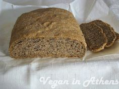 Ψωμί πολύσπορο με αλεύρι ολικής - Veganinathens.com Cooking Recipes, Healthy Recipes, Multigrain, Bread Rolls, Greek Recipes, Banana Bread, Food And Drink, Health Fitness, Pie