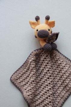 Crochet Giraffe Pattern, Crochet Lovey, Love Crochet, Baby Knitting Patterns, Crochet For Kids, Amigurumi Patterns, Crochet Dolls, Crochet Patterns, Crochet Security Blanket