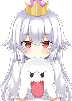"""I would like to submit the fact that """"Booette"""" would sound silly and if no one has suggested it yet she simply be called """"Boo-chan"""". Anime Girls, Manga Girl, Anime Art Girl, Manga Anime, Loli Kawaii, Kawaii Anime Girl, Game Character, Character Design, Animé Fan Art"""