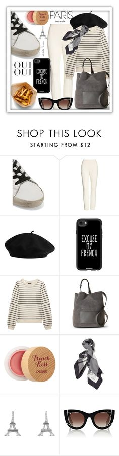 """""""Excuse My French"""" by queenofsienna ❤ liked on Polyvore featuring Golden Goose, T By Alexander Wang, Casetify, French Connection, Caudalíe, Lafayette 148 New York, Oui, Cathy Waterman, Thierry Lasry and parisfashionweek"""