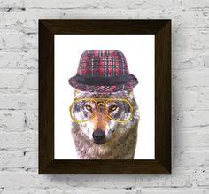 animal print, animal art, animal print nursery, animal wall art, wolf print…