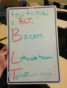How I make my BLTs