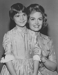 Patty Petersen and Donna Reed from the television program The Donna Reed Show