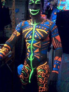 Glow Body Paint Ideas
