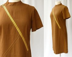 Mod ALine Scooter Dress // Coffee Brown by ModLoungeVintage, $28.00