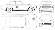 Alfa Romeo GTA blueprint