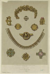 Jewellery in Gold. From Masterpieces of industrial art & sculpture at the International Exhibition 1862. New York Public Library.