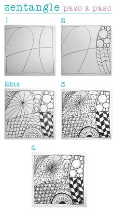 Risultati immagini per ideas de dibujos para decorar zentangle art Doodles Zentangles, Zentangle Drawings, Mandala Drawing, Doodle Drawings, Easy Zentangle Patterns, Doodle Patterns, Op Art, Silkscreen, Doodle Art Designs