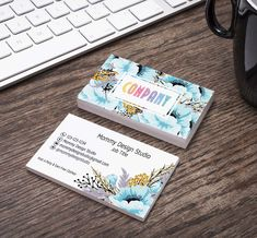 Blue Flower Design - Home Office Approved Fonts/Colors - Starter Bundle - MoolaCash Bucks -SizeCard -Rack Dividers -PunchCard Lularoe Business Cards, Printing Services, Online Printing, Lipsense Business Cards, Elegant Business Cards, Name Logo, Standard Business Card Size, Host A Party, Free Clothes
