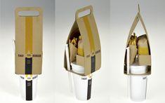 Imagen del empaque inteligente para comida rápida de Seulbi Kim