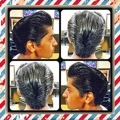 angellestat: Today's full pomp with DA!✂️💈 (at The Shop) Slick Hairstyles, Classic Hairstyles, Rockabilly Fashion, Rockabilly Style, New Hair, Men's Hair, Pompadour Hairstyle, Tapered Haircut, Hair Pomade