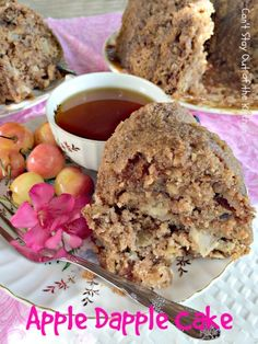Apple Dapple Cake   Can't Stay Out of the Kitchen - fabulous Mennonite recipe with apples, walnuts, cinnamon, coconut and a wonderful glaze on top.
