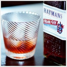 Colder Weather Warmer... Sloe Gins from Hayman's Gin, Plymouth Gin, and Bitter Truth + Cocktail Recipes.