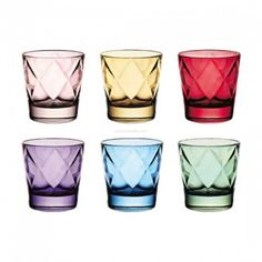 Ego Alter  Euforia Double Old Fashioned Tumbler 37cl    The fun of colour. Varied tones, delicate shading. The glass follows and celebrates the colour's path, letting it collide in a fantasy of generous luminosity.