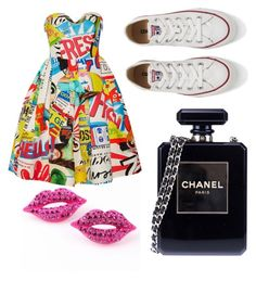 """popart"" by kiiit-thy on Polyvore featuring Moschino, Converse and Chanel"