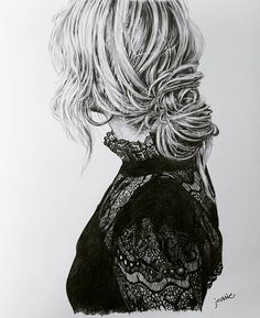 . bun..lace . . . . . . . . . . . . . #drawing #pencildrawing #art #artwork #illustration #doodle #sketch #draw #fashionillustration #fashion #style #bun #lace #highneck #details #thefab3 #daily #드로잉 #연필화 #일러스트 #스케치 #인물화 #패션 #스타일 #번헤어 #하이넥 #레이스 #그림 #일상 #데일리