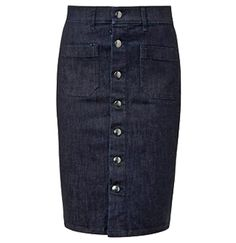 Most tips to wear a denim gown will depend on your personal design, however this straightforward elegant style. Denim Skirt Outfits, Denim Outfit, School Looks, Retro Outfits, Rock, Modest Fashion, Fall Outfits, Autumn Fashion, My Style