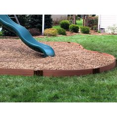 "Rahmen lassen Curved 2 ""X 16 & # Playground Border Kit Sienna - Holz Dekoration Plastic Playground, Backyard Playground, Backyard Ideas, Playground Ideas, Pergola Ideas, Outdoor Ideas, Backyard Skatepark, Backyard Playset, Garden Ideas"