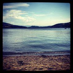 Woodlake beach. Oyama, British Columbia.