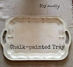DIY beautify: How to Antique a Tray Using Chalk Paint