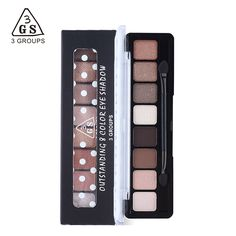 8 or 6 Colors Earth Color Eyeshadow Makeup Naked Smoky Palette Glitter Matte Make Up Eye Shadow Maquillage Cosmetic with Brush